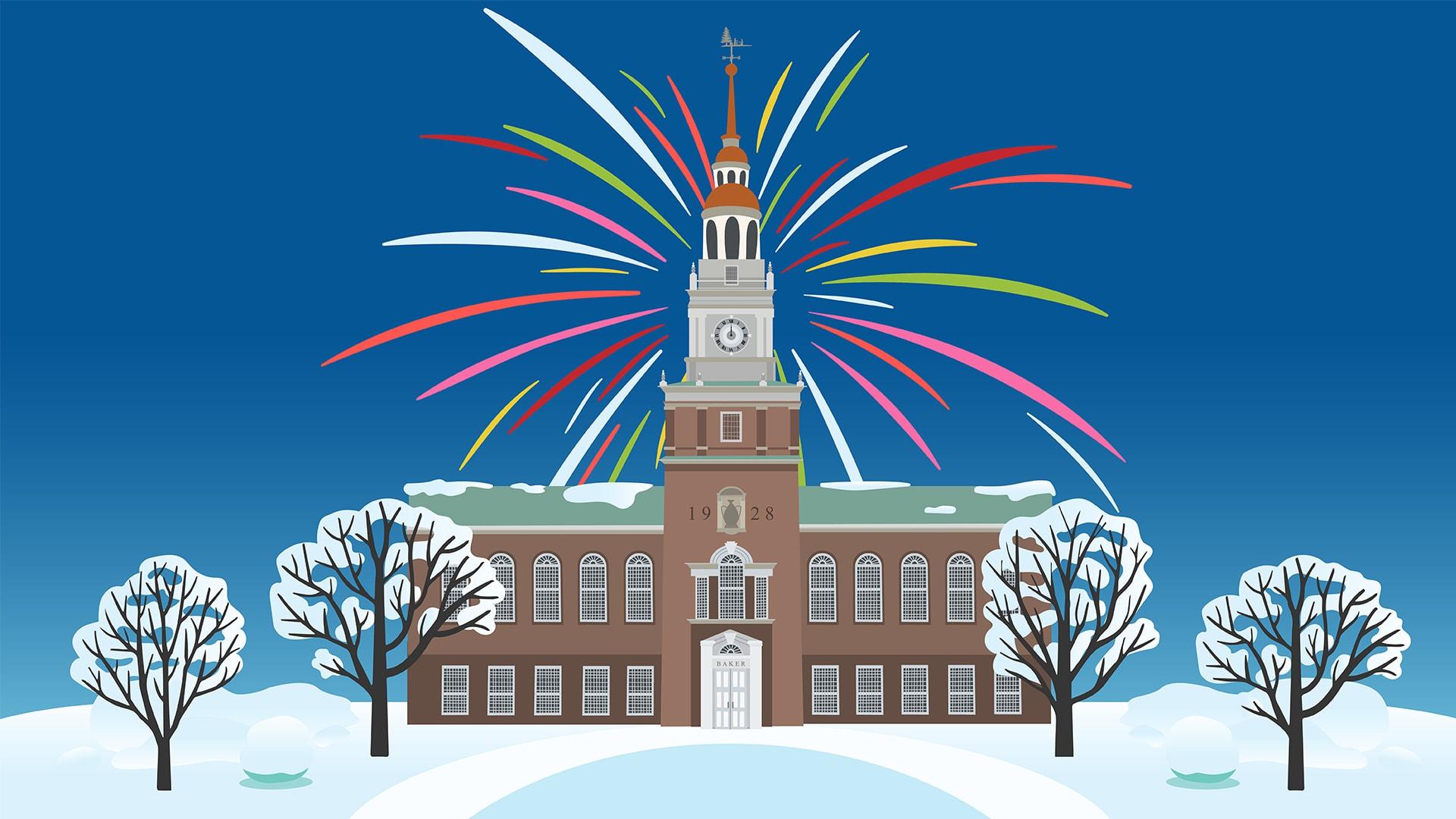 Dartmouth Happy New Year Animation